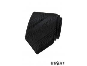 Černá proužkovaná pánská kravata