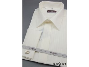Pánská košile svatební KLASIK MK - s francouzskou manžetou 664-90017 3022-90017 smetanová (Barva 3022-90017 smetanová, Velikost 43/194, Materiál 80% bavlna a 20% polyester)