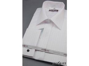 Pánská košile svatební KLASIK MK - s francouzskou manžetou 664-90001 3022-90001 bílá (Barva 3022-90001 bílá, Velikost 45/46/182, Materiál 80% bavlna a 20% polyester)