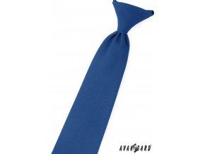 Královsky modrá matná dětská kravata na gumičku