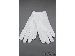 Bílé klasické pánské rukavičky