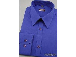 Pánská košile SLIM s dl.ruk. 117-1143 Modrá (Barva Modrá, Velikost 43/44/182, Materiál 80% bavlna a 20% polyester)