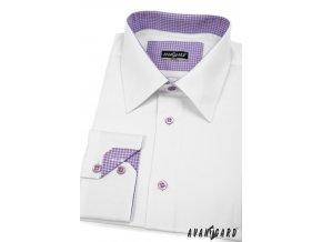 Pánská košile AVANTGARD SLIM dl. ruk. 119-0138 Bílá (Barva Bílá, Velikost 43/44/182, Materiál 80% bavlna a 20% polyester)