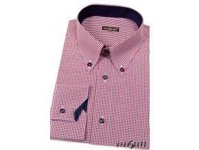 Pánská košile AVANTGARD SLIM dl. ruk. 124-3112 Modrá (Barva Modrá, Velikost 41/42/182, Materiál 65% bavlna a 35% polyester)
