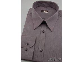 Pánská grafitová luxusní košile SLIM FIT s dl.ruk. 117-1009