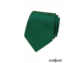 Smaragdově zelená luxusní pánská kravata s vroubkovanou strukturou