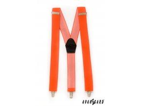 Neonově oranžové jednobarevné široké šle