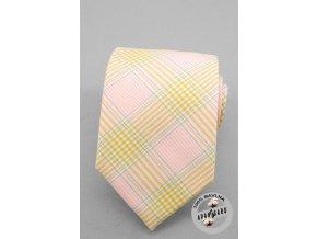 Kravata AVANTGARD LUX bavlněná 601-5011 Růžová (Barva Růžová, Velikost šířka 7 cm, Materiál 100% bavlna)