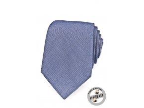 Kravata AVANTGARD LUX bavlněná 601-5040 Modrá (Barva Modrá, Velikost šířka 7 cm, Materiál 100% bavlna)