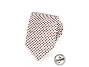 Kravata AVANTGARD LUX bavlněná 601-5036 Hnědá (Barva Hnědá, Velikost šířka 7 cm, Materiál 100% bavlna)