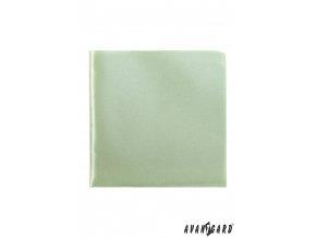 Světle zelený lesklý jednobarevný kapesníček