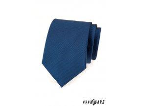 Světle modrá luxusní jednobarevná kravata _