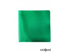 Smaragdový jednobarevný kapesníček