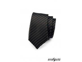 Kravata SLIM AVANTGARD 551-1491 Černá (Barva Černá , Velikost šířka 5 cm, Materiál 100% polyester)