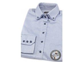 Dámská košile dl.ruk. 720-1516 Modrá (Barva Modrá, Velikost 40, Materiál 100% bavlna)