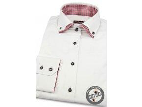 Dámská košile dl.ruk. 720-0123 Bílá (Barva Bílá, Velikost 38, Materiál 100% bavlna)
