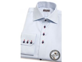 Pánská světle modrá SLIM FIT košile, dl.rukáv, 107-4912