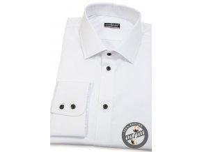 Pánská košile SLIM dl.rukáv 109-9123 Bílá (Barva Bílá, Velikost 38/170, Materiál 100% bavlna)