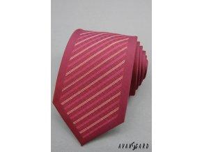 Fialová proužkovaná kravata