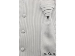Vesta + regata + kapesníček 552-44 44 - stříbrná (Barva 44 - stříbrná, Velikost 52, Materiál 100% polyester)