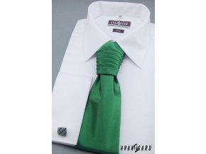Zelená pánská regata + kapesníček do saka