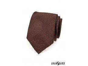 Hnědá kravata se vzorem