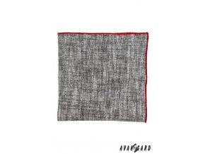 Kapesníček AVANTGARD PREMIUM 612-61048 Šedá (Barva Šedá, Velikost 30x30 cm, Materiál 100% len)