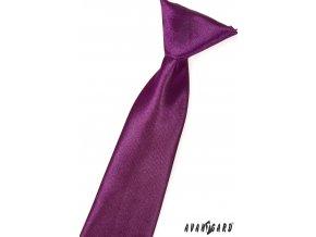 Fialová chlapecká kravata