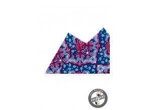 Kapesníček bavlněný PREMIUM 610-5533 Modrá (Barva Modrá, Velikost 24x24 cm, Materiál 100% bavlna)