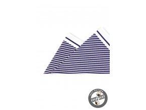 Kapesníček bavlněný PREMIUM 610-5539 Bílo-modrá (Barva Bílo-modrá, Velikost 25x25 cm, Materiál 100% bavlna)