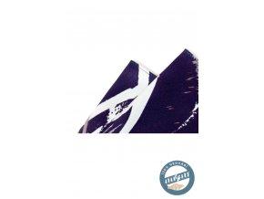 Kapesníček hedvábný PREMIUM 610-5547 Modrá (Barva Modrá, Velikost 32x32 cm, Materiál 100% hedvábí)