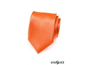 Oranžová kravata bez vzoru_