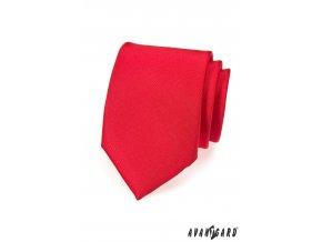 Červená matná kravata_