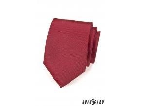 Bordó matná kravata