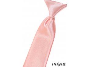 Růžová chlapecká kravata