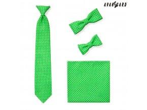 Zelený kapesníček s puntíky