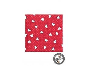 Kapesníček AVANTGARD LUX 583-5107 Červená (Barva Červená, Velikost 28x28 cm, Materiál 100% bavlna)
