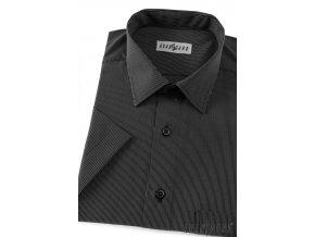 Pánská košile KLASIK kr.rukáv 927-2301 Černo-bílá (Barva Černo-bílá, Velikost 47/48/182, Materiál 65% bavlna a 35% polyester)