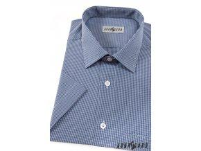 Pánská košile KLASIK kr.rukáv 927-3101 Modro-bílá (Barva Modro-bílá, Velikost 49/50/182, Materiál 65% bavlna a 35% polyester)