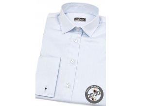 Modrá dámská košile na manžetové knoflíčky, 722-4931_