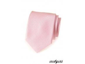 Velmi světle růžová vzorovaná kravata_
