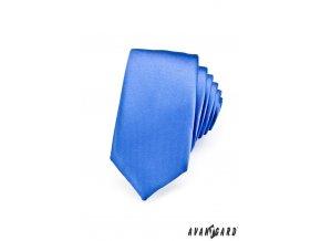 Kravata SLIM AVANTGARD LUX 571-14106 Modrá (Barva Modrá, Velikost 0, Materiál 100% polyester)