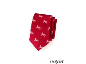 Kravata SLIM AVANTGARD LUX 571-62070 Červená (Barva Červená, Velikost šířka 6 cm, Materiál 100% polyester)