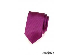 Kravata SLIM AVANTGARD LUX 571-62120 Fuxiová (Barva Fuxiová, Velikost šířka 6 cm, Materiál 100% polyester)