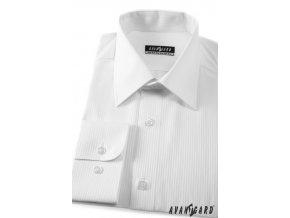Pánská košile KLASIK dl.ruk 527-2111 2111 - bílá (Barva 2111 - bílá, Velikost 49/50/182, Materiál 80% bavlna a 20% polyester)