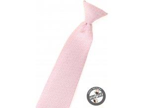 Velmi světle růžová chlapecká kravata s jemnými proužky