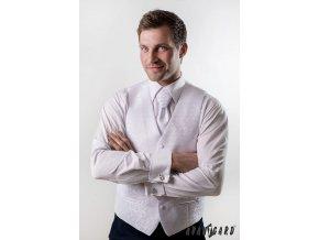 Vesta + regata + kapesníček 552-16 16 - bílá (Barva 16 - bílá, Velikost 56, Materiál 100% polyester)