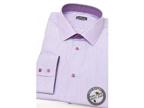 Pánská košile SLIM dl.rukáv 109-3866 Fialová (Barva Fialová, Velikost 40/182, Materiál 100% bavlna)