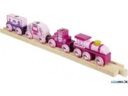 Vláček - Vlak pro princezny + 3 koleje Bigjigs
