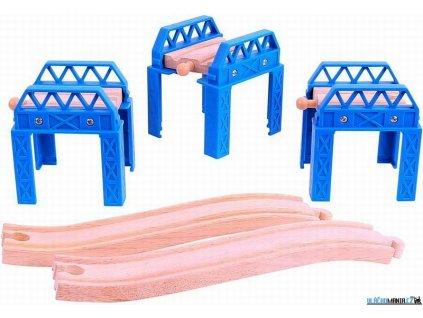 Mostní pilíře - Set mostní konstrukce Bigjigs